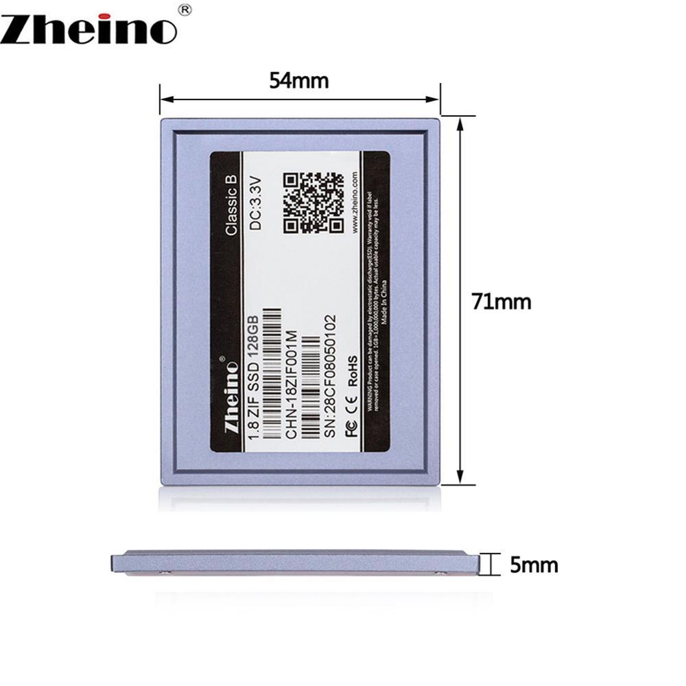 Zheino 1,8 дюймов CE ZIF SSD 128GB MLC интерфейс твердотельный накопитель для ноутбука