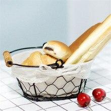 Iron Art Wire Sundries Storage Basket Desktop Grocery Organizer Small Fruit Bowl Portable Mini Basket mini bowl