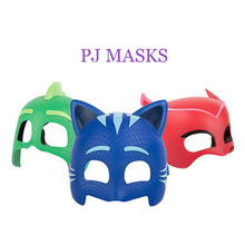 pj mask Doll model masks three different color masks Catboy Owlette Gekko Figures Anime Outdoor Fun toy Active Gift For kids2B09 new arrival pj masks vehicle characters slide cars catboy owlette gekko cloak action figure toys boy birhday gift for kids flyer