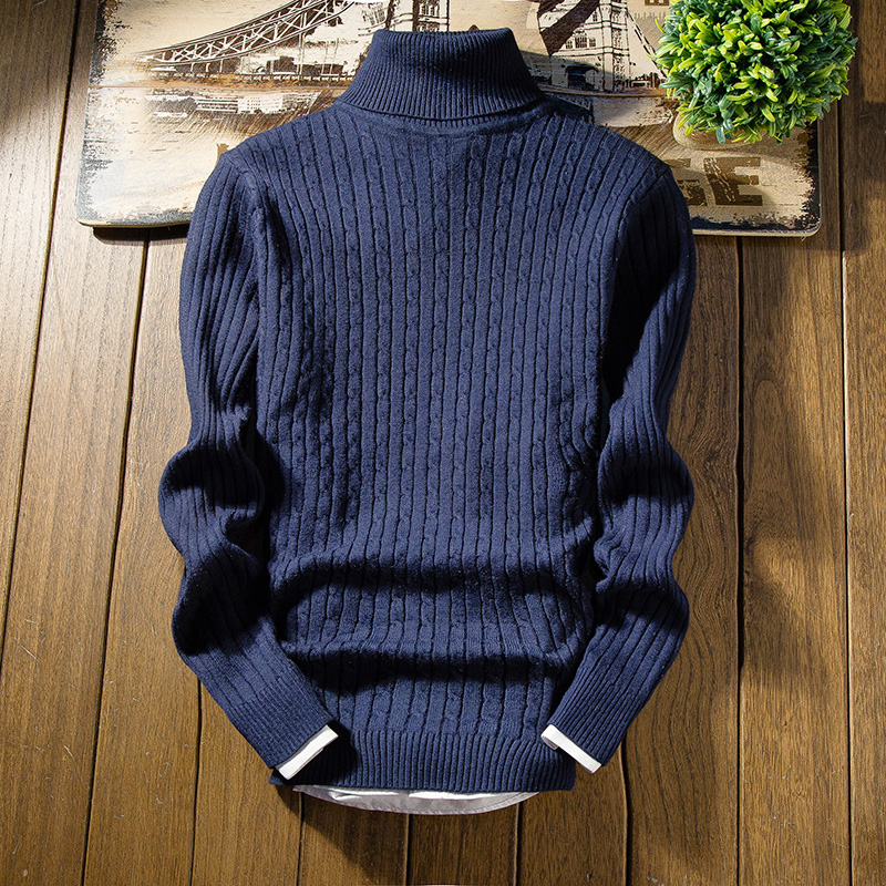 New Style Fashion Hot Men Winter Knitted Sweater Roll Turtle Neck Pullover Jumper Warm Sweatshirt Tops