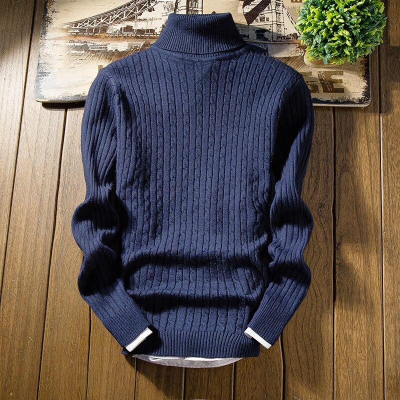 Novo estilo de moda quente inverno camisola de malha rolo pescoço tartaruga pulôver jumper camisola quente topos