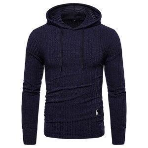 Image 4 - NEGIZBER New Spring Mens Sweatshirts Solid Casual Hoody Men Elasticity Slim Fit Pullover Hoodies Men Streetwear Sporting Hoodies