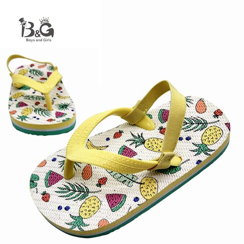 B&G Anti-slip Summer Sandals Boys And Girls Beach Slides Quick-drying Foam Children's Beach Slippers Breathable Kids Flip-flops