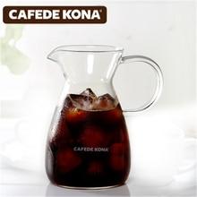 CAFEDE KONA coffee pot 500ml Hand Drip Can household heat-resistant glass