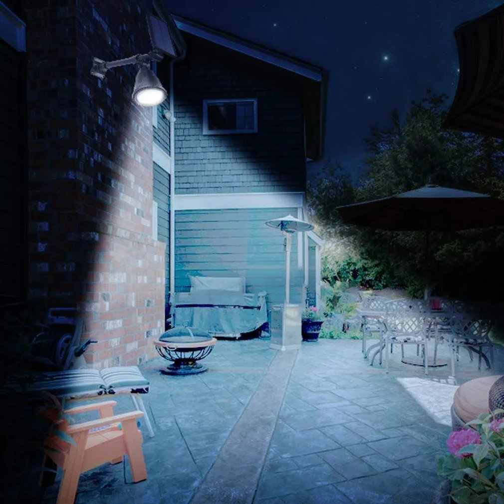 Luces LED a prueba de agua luces de energía Solar luces de jardín al aire libre patio césped pared punto luces LED