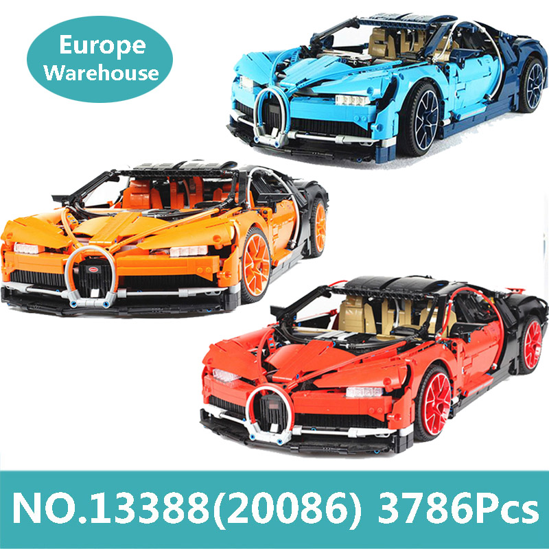 King Bricks 20086 City Super Sports Racing Car Building Blocks Technic Car Bugatti Chiron 42083 Toys For Children Lepinblocks-in Blocks from Toys & Hobbies    1