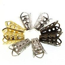 50 шт. 10x16 мм трубы прокладки бусины крышки концевые застежки для изготовления ювелирных изделий Diy ожерелье кисточкой серьги аксессуары Z633
