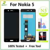 Lcd-bildschirm Für Nokia 5 LCD Display Touchscreen Digitizer Montage Ersatz Für Nokia5 N5 TA-1008 TA- 1030 TA-1053 LCD Bildschirm