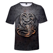 Casual cobra kai adequado popular confortável cobra kai moda verão 3d camiseta de manga curta meninas meninos t camisa masculina