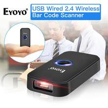 Eyoyo EY-009L Portable Pocket 1D Barcode Scanner Bluetooth USB Wired&Wireless Bar Code Reader For Android IOS Handheld Scanner(China)