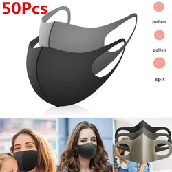 N95 maska gąbka maska czarna oddychająca maska usta wielokrotnego użytku przeciw zanieczyszczeniom osłona twarzy wiatroszczelna osłona na usta Fpp2 Kf94 PM2.5 w Maski od Uroda i zdrowie na