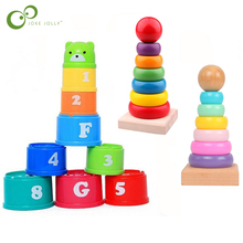 Toy Tower-Toys Stacking-Cup Birthday Early-Educational Baby Color Christmas-Gift Intelligence