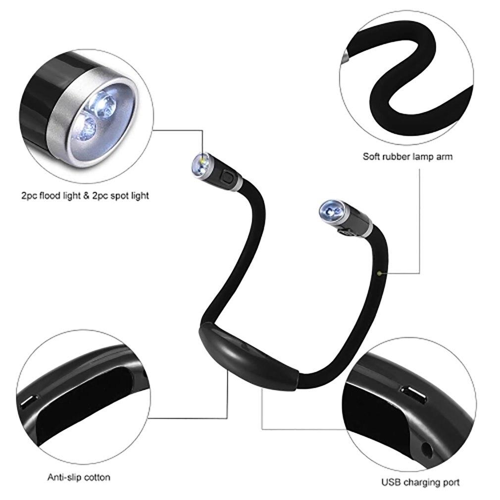 Flexible Adjustable LED Light Neck Book Night Lamp For Study Reading