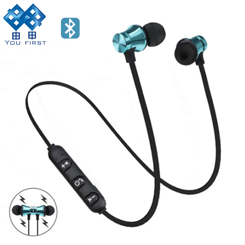 XT11 Bluetooth Earphone 5.0 Sports Wireless Headphones In-ear Magnetic Headset With Mic Handsfree Earbuds For Mobiles Phone