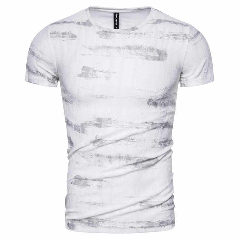 2020 neue Frühjahr Sommer 100% Baumwolle Druck T-shirt Männer Casual Slim Fit Männer T Shirt O-ansatz Art Und Weise Hohe-qualität design T-shirt Männer