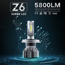 цена 2Pcs Led Lights For Car H7 H4 H11 H3 H8 LED Headlight Car Lamps For Auto LED Light Bulbs In Car Running Lights Fog light Lamps онлайн в 2017 году