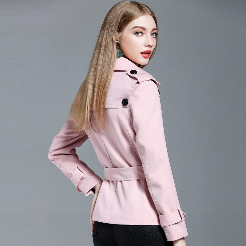 Korean Fashion Women Autumn Wear on both sides Jacket Casual Coat Windbreaker