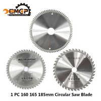 1 unidad de diámetro 160 165 185mm TCT hoja de sierra Circular para madera plástico acrílico hoja de sierra para carpintería 24T 48 60T 80T disco de corte