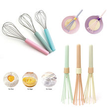 купить Kitchen Whisk Premium Silicone With Heat Resistant Non-Stick Silicone Whisk Cooking Tool Whisk Kitchen Gadget Random Color D40 по цене 210.37 рублей
