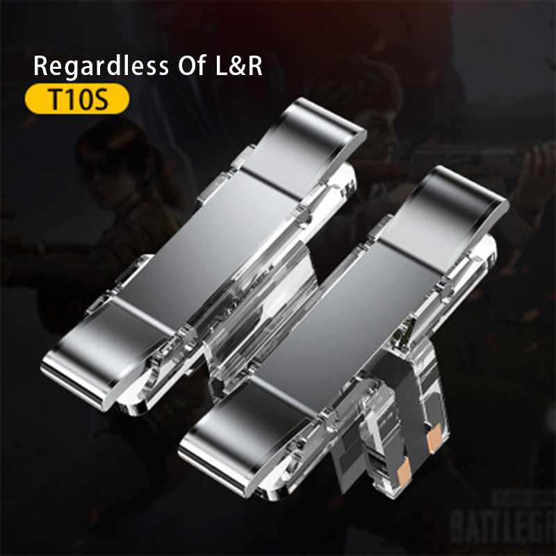 2PCS Gaming Trigger for Mobile Phone PUBG L1R1 Shooter Controller Game Fire Button Aim Key for PUBG Knives Out Rules of Survival image