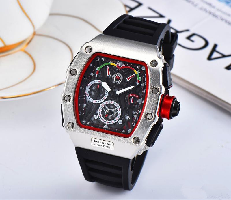 Hot Brand Luxury Siliconce  Dz Auto Date Week Display  Luminous Diver Watches  Stainless Steel Wrist Watch Male Clock