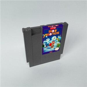 Image 1 - Snow brothers 72 pinos 8bit cartucho de jogo