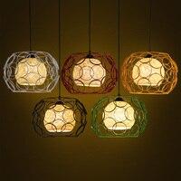 Nordic Industrie Wind Eisen Käfig Anhänger Lichter Esszimmer Hängen Lampe Küche Lichter Hängen Led Weihnachten Dekorationen-in Pendelleuchten aus Licht & Beleuchtung bei