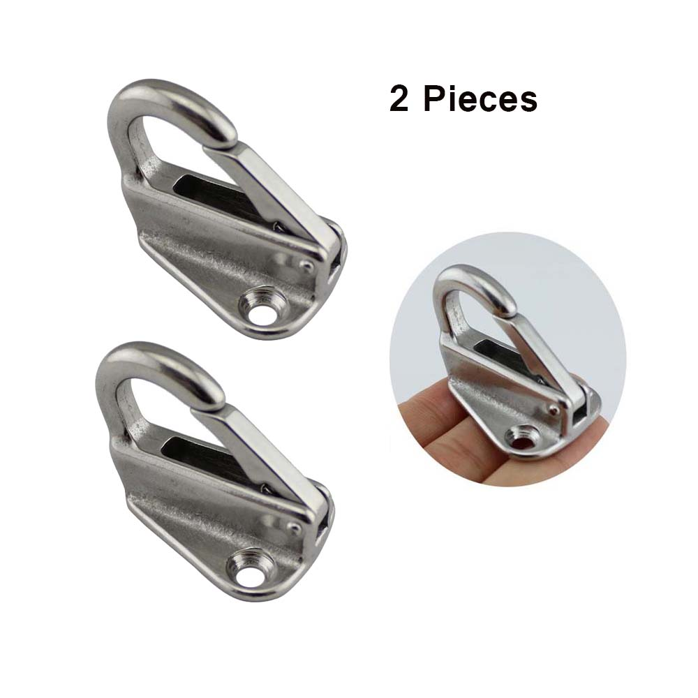 2pcs 316 Stainless Steel Boat Fending Hooks Fender Spring Hook Snap Attach Rope Boat Sail Tug Ship  Boat Accessories Marine