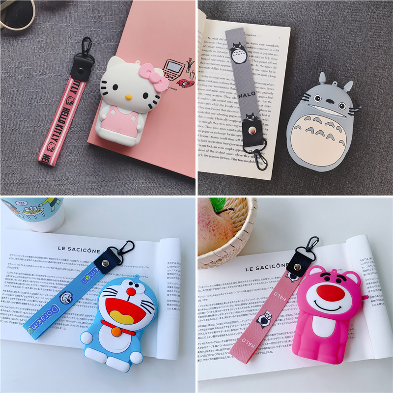 Silicone Coin Purse Kawaii Kitty Wallet Chain Zipper Bucket Women Female Purse Money Bags Wallet Card Bag With Straps