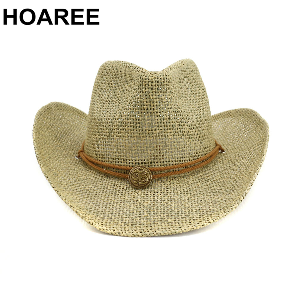Womens Summer Hats 2021 New Cowboy Hat Womens Sun Hat Female Vintage Ladies Straw Hat Western Cowgirl Women Summer Hat