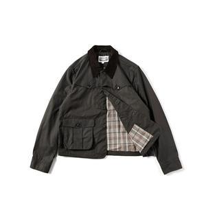 Image 4 - Уличная винтажная Вощеная хлопковая куртка 80 х годов мужское охотничье пальто в коротком стиле оливковая