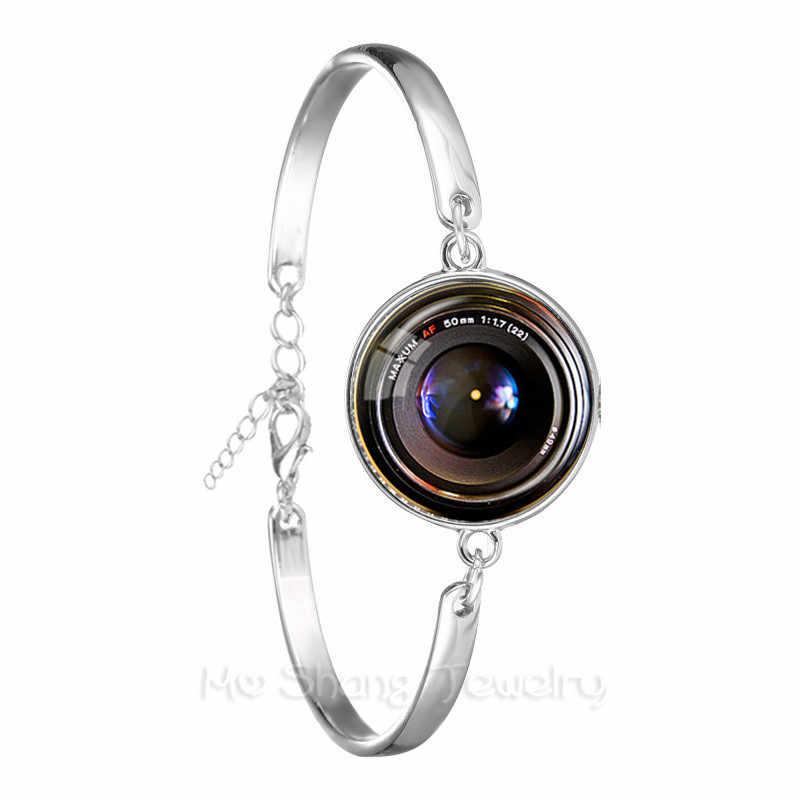 2018 חדש טרנדי מצלמה מצב צמיד עבור צלמים אופנה צילום בעבודת יד 18mm זכוכית כיפת שרשרת צמיד מתנה הטובה ביותר