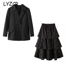 Women skirt Suit Set Blazer And Skirt two Piece Set Women Blazers female Plus size 5XL Elegant Skirts Office Wear Women Suits(China)