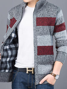 Sweater Knitwear Jumpers Mens Cardigan Male Clothing Korean-Style Thick Casual for Slim-Fit