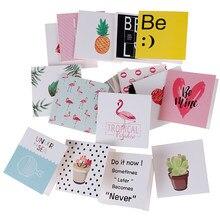 Nova 10 pçs/set Dos Desenhos Animados Criativo Mini Cartões de Aniversário Cartões Em Branco Cartão do Ano Novo Cartão do Dia Dos Namorados Natal 8x8cm