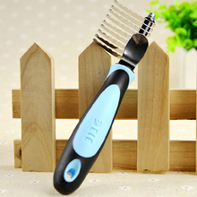Tangles and Matted Hair Cutter Rake Remover Comb Grooming Tool Detangler Brush Shedding Trimmer For Dog Cat Pet Safe Edges