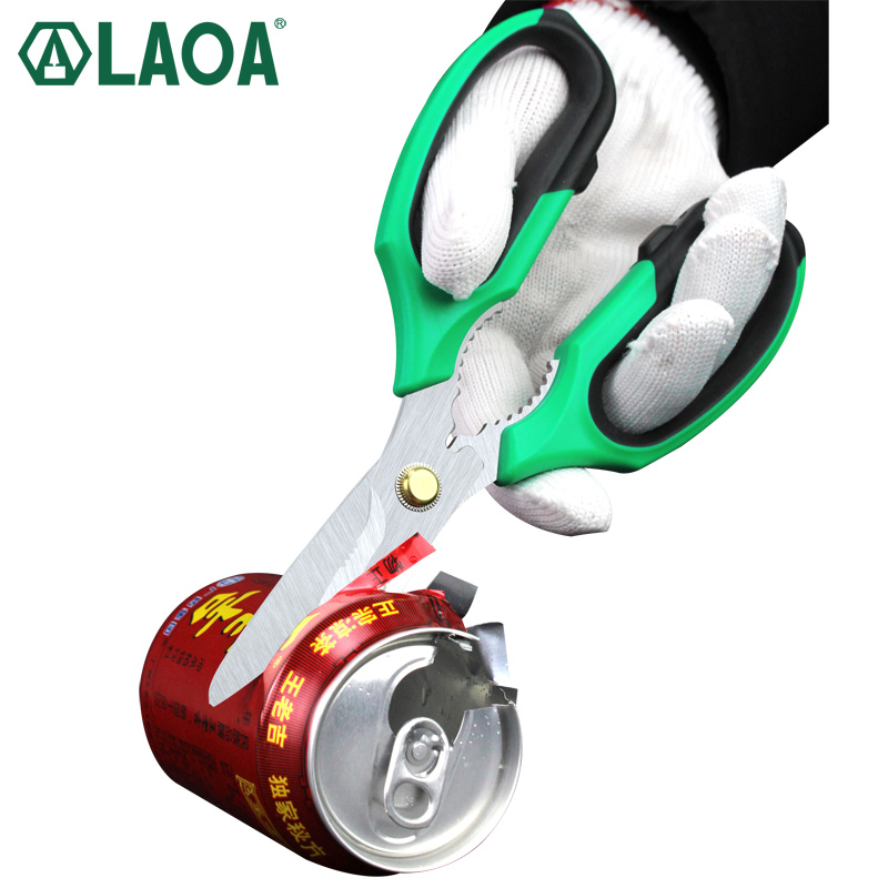 LAOA Stainless Household Scissors Multi Shears For Kitchen Made In Taiwan Crimp Tool Wire Cutting Hand Tools