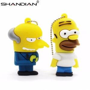 Image 5 - SHANDIAN Bart Simpson fare kurt 4GB 8GB 32GB 64GB Memory Stick U Disk PenDrive Homer kalem sürücü USB Flash sürücü
