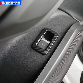 Car Styling Door Trunk Switch Button Frame Decoration Carbon Fiber Color Sticker For Audi Q5 FY 2018 2019 Interior Accessories image