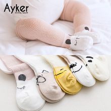 5 Pairs Baby Socks Newborn Toddler High Knee Long Girl Leg Warmer Cotton Summer Princess Dress Candy Color Kids
