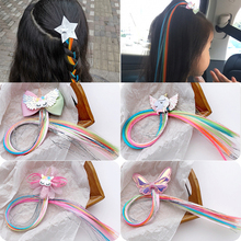 5 Pcs/Lot Girls Cartoon Unicorn Wigs Hairpins Sweet Princess Headbands Hair Clips Barrettes Kids Fashion Accessories