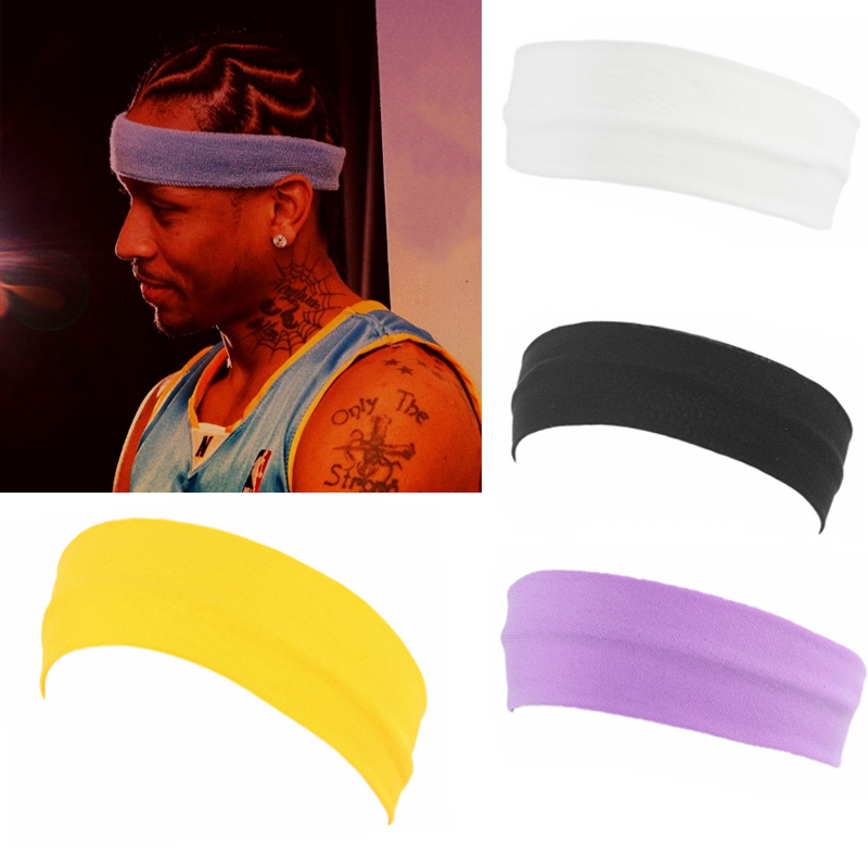 10 Colors Elastic Sports Headband Yoga Street Dance Rapper Turban Bezel Accessory Two Materials Fashion Man And Girl Hair Band