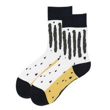 цена на Men Women Vintage Color Block Long Crew Socks Graphic Leoaprd Stripes Printed Harajuku Art Skateboard Cotton Hosiery