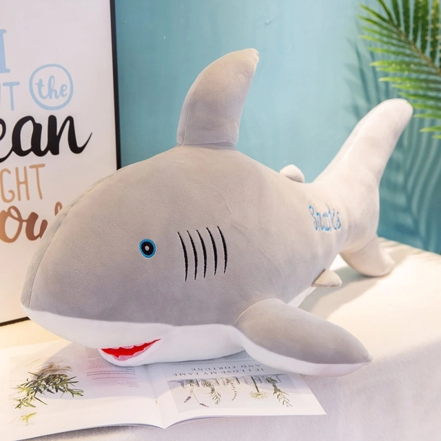 Shark Plush Toys Popular Sleeping Pillow Travel Companion Stuffed Animals Simulation Fish Doll Cushion Kids Toys for Children