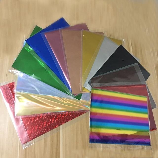 50pcs A4 5colors Mixed Color Gold Silver Hot Stamping Foil Paper Laser Printer Craft Paper 20x29cm