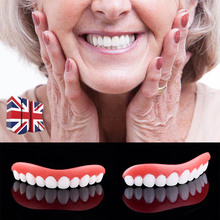 Beauty Tool False Teeth Perfect Instant Smile Comfort Fit Teeth Whitening Denture Paste Upper Cosmetic Fake Tooth Cover