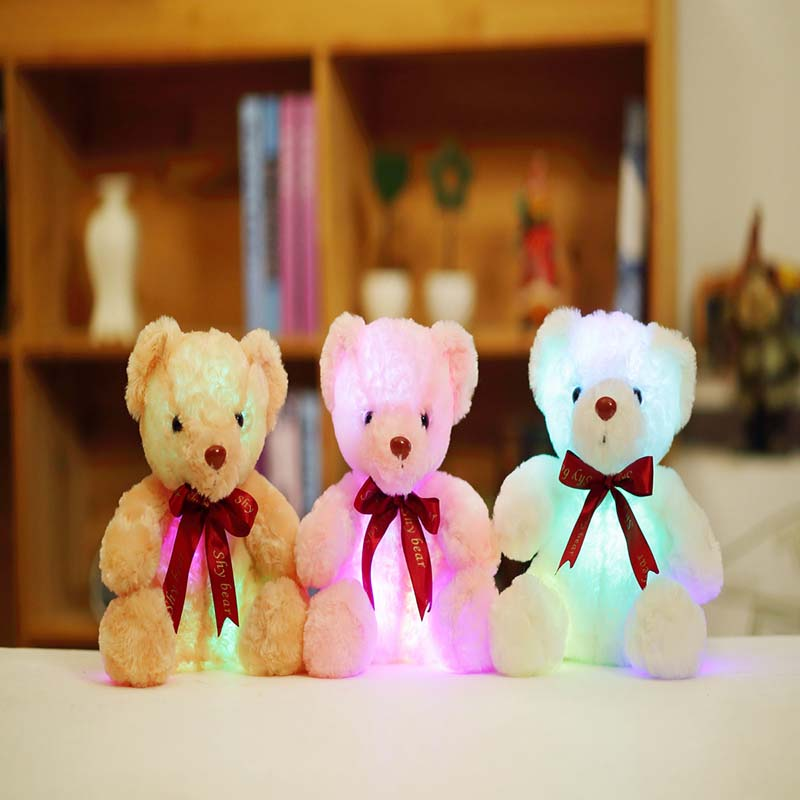 de pelucia luminosa led luz brinquedos 05