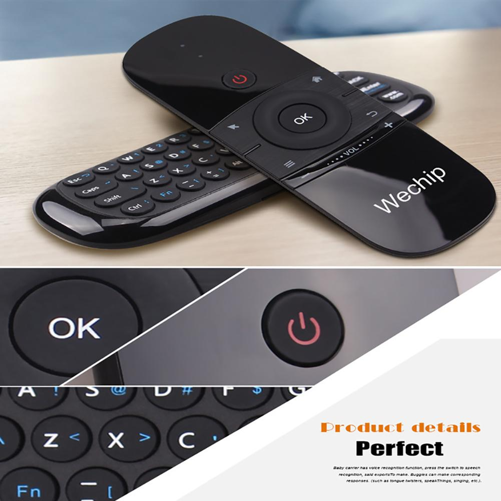 W1 Ultra-slim 2.4G Wireless Keyboard Motion Sense Air Mouse Controller for Laptop Smart TV PC Android TV BOX