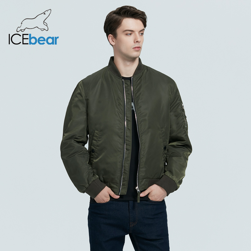 ICEbear 2020 New spring men's short jacket fashion flight coat men's clothing high-quality brand jacket MWC20706D