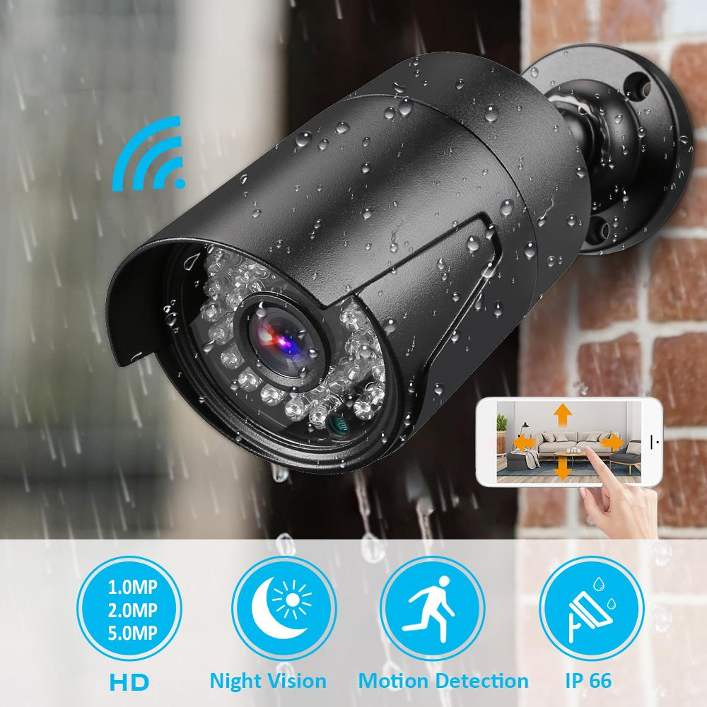 1MP/2MP/5MP Outdoor Waterproof Camera Home Security  Wired IP Camera For Home Security